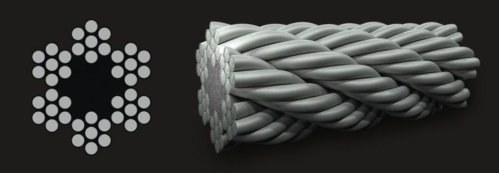 6×7 (6/1) – Fibre Core Wire Rope