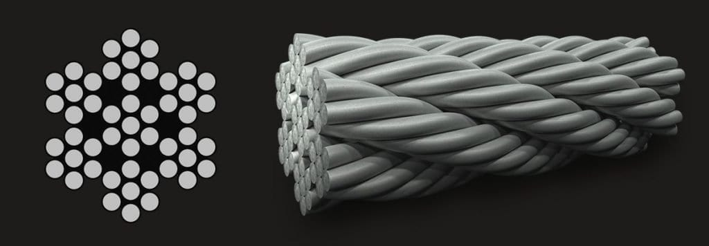 7×7 (6/1) – Wire Strand Core Wire Rope