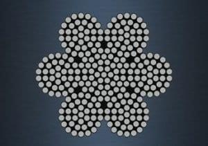 6×37 (18/12/6/1) – IWRC Galvanized Steel Wire Rope