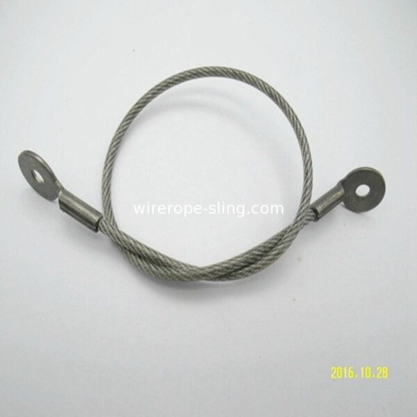 4.8mm Steel Wire Rope Sling Cable Assemblies With Clip / Eye Hook Thimble